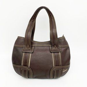 LANCEL Paris Brown Leather Shoulder Bag